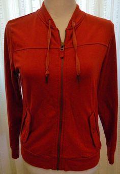 Women's Talbots Petites Jacket Zip Front Long Sleeve Maroon Size S #Talbots #BasicJacket
