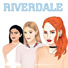 They are all beautiful even drawn💕 Riverdale Fashion, Bughead Riverdale, Zack E Cold, Riverdale Wallpaper Iphone, Archie Comics Riverdale, Riverdale Betty And Jughead, Betty & Veronica, Sisters Forever, Famous Cartoons