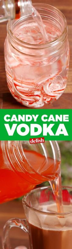 This Candy Cane Vodka combines everyone's winter favorites! Be sure to try it this upcoming Holiday season. #vodkacocktails