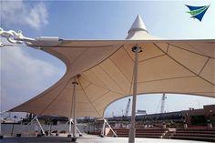 Simple yet elegant tensile fabric structure