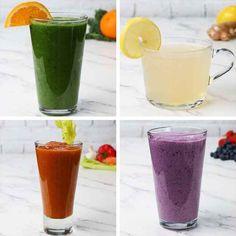 Grüner Vitaminsaft2 PortionenZUTATEN360ml Orangensaft, frisch gepresst30g frischer Spinat30g frisches Blattgrün nach Wahl, optional½ Gurke in Scheiben1 kleiner Apfel in SchnitzenZUBEREITUNG1. Orangensaft, Spinat und das andere Blattgrün in einen Mixer geben und mischen, bis eine glatte Konstistenz erreicht ist.2. Gurke und Apfel zugeben. Mixen, bis es glatt ist.3. In ein Glas gießen und sofort servieren oder auf Wunsch im Kühlschrank kühlen.4. Zum Wohl!Inspiriert…