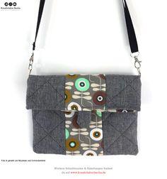 "Schnittmuster Handtasche ""Mira"": http://www.kreativlaborberlin.de/naehanleitungen-schnittmuster/handtasche-mira-in-drei-groessen/"