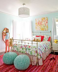 Remodelaholic | Sweet As Sugar Girl's Room Design Ideas (On a Budget!)