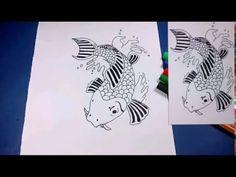 como desenhar Carpa-tattoo