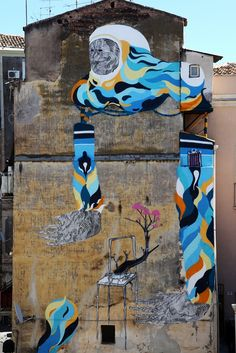 Street Artist: 2501 - Catania, Sicily  this design could make a beautiful quilt!!