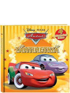 Autot: Tähtihetkiä -kirjassa suosikkiautot seikkailevat jälleen. Lue, miten Luigi suunnittelee Guidolle huiman vauhdikkaat yllätysjuhlat, kuinka Syylari Cityn autot viettävät lumista päivää, millaisen autonäyttelyn Salama järjestää ja miten vanha Rengaskeidas-motelli avataan uudelleen!