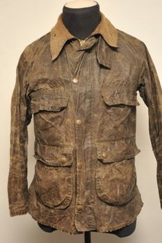 old barbour Barbour Jacket, Cool Jackets, Wax Jackets, Safari Jacket, Historical Clothing, Men's Clothing, Rugged Style, Mens Attire, Motorcycle Style