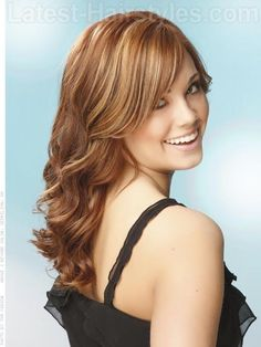 Wave Excellence Long Round Face Hairstyle - Side View