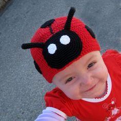 Slunéčko sedmitečné Crochet Hats, Beanie, Creative, Knitting Hats, Beanies, Beret