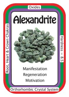 "Crystal Card of the Day: Alexandrite, ""I AM Courageous.""  Alexandrite (Diaphanite) is the green variety of Chrysoberyl that has been known to turn red in artificial light. Alexandrite can intensify dreams, bring luck in love and enhance the manifestation process. As a faceted gemstone it is truly rare and more often than not lab created.  Alexandrite is highly touted as having regenerative powers. It is a stone of courage, allowing one to face change with no fears. Alexandrite assists in…"