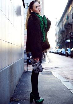 brown-fur-coat-with-green-scarf