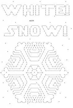 Snowflakes in ASCII Art