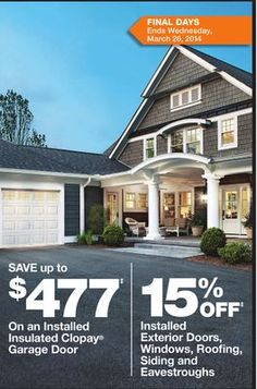 Item cutout from flyer Garage Doors, Exterior, Windows, Mansions, House Styles, Home Decor, Mansion Houses, Homemade Home Decor, Villas