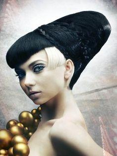 awesome goth hair