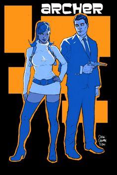 Lana Kane & Sterling Archer by Craig Cermak