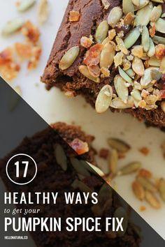 17 Healthy Ways To Get Your Pumpkin Spice Fix