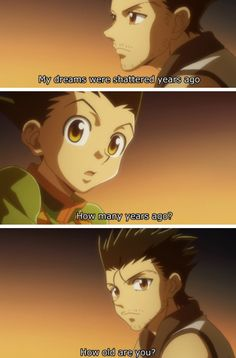 Gon Freecs and Ging Freecs Hunter x Hunter hilarious (I forgot I had this) Lol if this ain't true