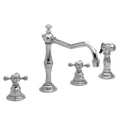 Newport Brass 943 Chesterfield Kitchen Faucet With Side Spray is made by the brand Newport Brass and is a member of the Chesterfield collection. It has a part number of 943.
