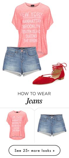 """Summer outfit jeans short"" by olga-kim-b on Polyvore featuring Replace, J Brand and Stuart Weitzman"