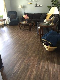 Need some home décor inspiration to get your space ready for the holidays? Check out this affordable living room re-do! See the room before: http://remodel.lumberliquidators.com/detail/3mm-rustic-reclaimed-oak-click-vinyl-vinyl-flooring-kenosha-wi