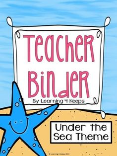 This pack includes 125 pages of covers, lists, forms, and charts for the creation of your own teacher binder! This is a great way to get organized in a cute Under the Sea theme. This pack will be updated each year so buy it once, redownload an updated pack each year in the future!  ** UPDATE: This pack is now a zip file that includes the original pack, meant to print and write as well as a customizable pack with 15 customizable pages including: Emergency Procedures Form Classroom Groups ...
