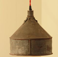 RESERVED for Jacquidowd - Rustic Lighting with Vintage Rustic Funnel Shade - Pendant