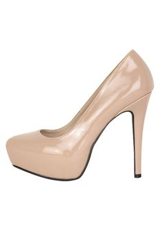 Another nude heel with a more glossy finish.