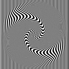Optical Illusion: Black and white stripes.