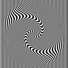Optical Illusion: Black and white stripes.