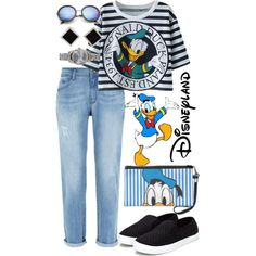 Donald Duck by annetkor on Polyvore featuring мода, Saltspin, eWatchFactory, Yvel, ZeroUV and Disney