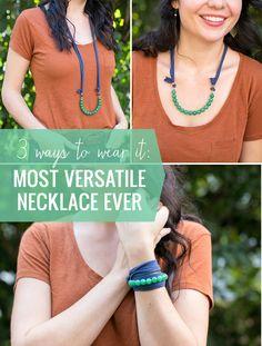 DIY the Most Versatile Necklace Ever – Wear It 3 Ways!