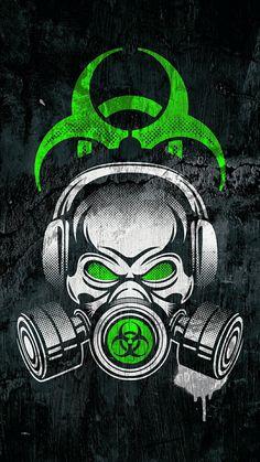 Graffiti Wallpaper Iphone, Hipster Wallpaper, Skull Wallpaper, Neon Wallpaper, Gas Mask Art, Masks Art, Cool Backgrounds Wallpapers, Best Gaming Wallpapers, Demon Drawings