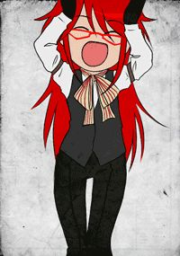 "Grell gif :) All I can hear is him saying, ""Oh, Bassie!"" as he shakes his ass."