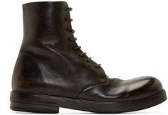 Marsèll - Black Leather Combat Boots