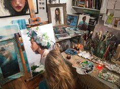 Lindsay Rapp is raising funds for Magical Muses & Oceans - Artist Painting Series Project on Kickstarter! Help me achieve my goals in creating this new series of paintings! Lindsay Rapp, Artist Aesthetic, Original Paintings For Sale, Art Hoe, Artist Life, Artist Painting, Art Studios, Art Inspo, Art Photography