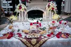 Sofreh Aghd - DIY - Persian Wedding Ceremony - Floral arrangements