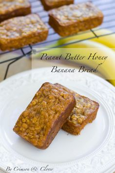 Crimson & Clover: All Things Delicious Over and Over: Peanut Butter Honey Banana Bread