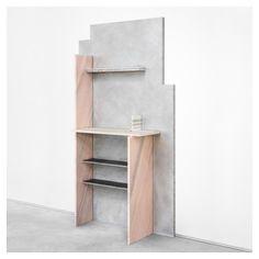 Robert Stadler - cut_paste #5(marble and aluminum bar, 2015) Airspace exhibition at Carpenters Workshop [Paris, 2015]
