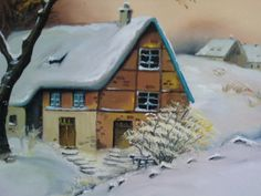 House  Oil painting by Canan Can