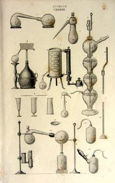 Antique french chemistry laboratory print by LyraNebulaPrints, $23.95