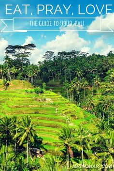 """Ubud is probably the place on Bali that has preserved it`s Balinese culture the most, and you can see and get a real feel of the true """"soul"""" of Bali here. Here are the must-see and must-do things when heading to Ubud on Bali: http://nerdnomads.com/eat-pray-love-ubud-bali"""