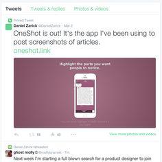 OneShot, a one week design case study — iOS App Development — Medium