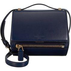 Givenchy Pandora Box Mini Crossbody ($1,650) ❤ liked on Polyvore featuring bags, handbags, shoulder bags, carteras, crossbody purse, mini crossbody handbags, blue crossbody, blue purse and givenchy purse