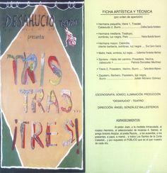 """""""Tris, Tras... !Tres!"""" por el Grupo """"Desahucio-Teatro"""" Cuenca 2003 #Cuenca #Teatro  #DesahucioTeatro"""