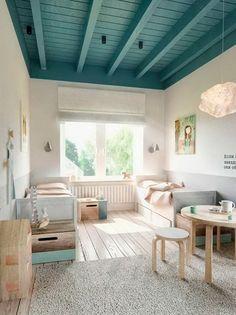 Techo de dormitorio infantil pintado