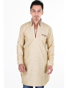 Men linen short pathani is just amazing to wear in festivals. Product  code - G3-MSP0133