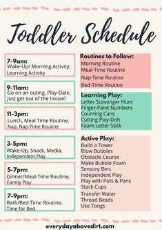 Toddler Routine, Toddler Schedule, Kids Schedule, Toddler Menu, Home Preschool Schedule, Preschool At Home, Toddler Preschool, Toddler Daycare, Toddler Learning Activities