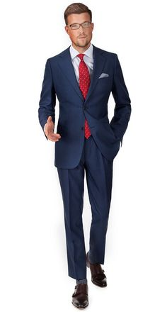Intense Blue Pick & Pick Suit  #custom #suit #OliverWicks