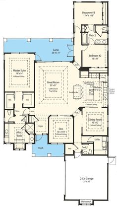 I like the master suite on this house! 3 bedroom house floor bedroom house bedrooms house plans,floor plan for 3 bedroom house,three bedroom floor plans house Country Style House Plans, Dream House Plans, House Floor Plans, My Dream Home, The Plan, How To Plan, Plan Plan, Bedroom Floor Plans, Energy Efficient Homes