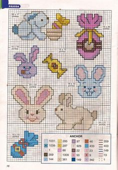Pin by doris nadales on bebé Cross Stitch Designs, Cross Stitch Patterns, Minnie Baby, Easter Cross, Cross Stitch Alphabet, Plastic Canvas Patterns, Baby Sweaters, Doll Patterns, Crafts To Sell